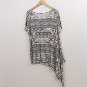 Cato Printed Assymetrical Top